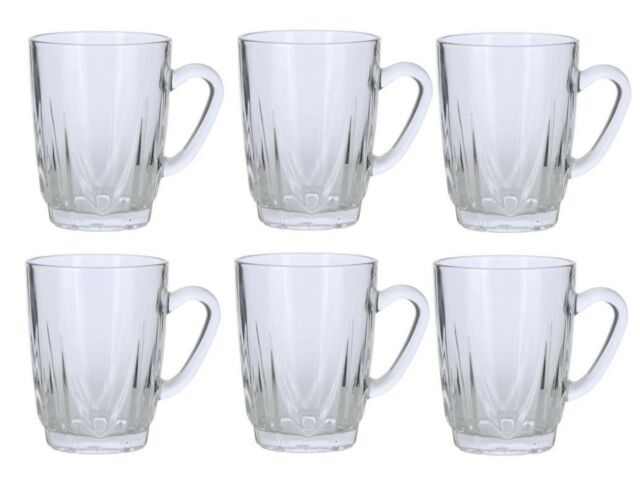 Set of 6 Persian Tea Glasses with Handles 5 oz Ounce
