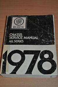 Werkstatthandbuch Buick Chassis Service Manual All Series 1978 Sachbücher Auto & Motorrad: Teile