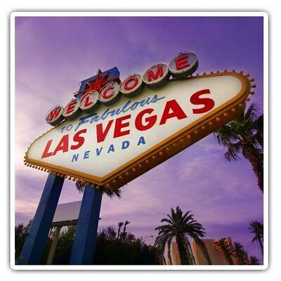 Las Vegas Sign USA America  #8233 2 x Heart Stickers 7.5 cm