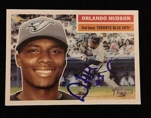 ORLANDO-HUDSON-2005-TOPPS-Autograph-Signed-AUTO-Baseball-Card-343-BLUE-JAYS