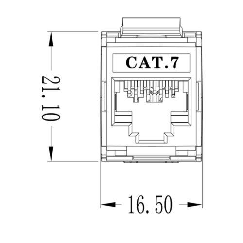 RJ45 CAT 7 Geschirmter Keystone Jack Zinklegierungsmodul Buchse Adapter 10 Gbit