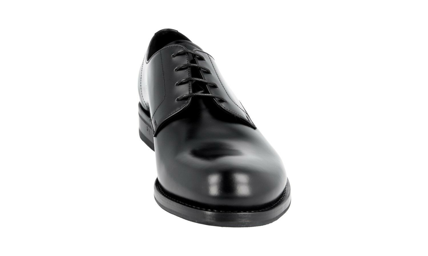 Luxe Prada Derby Plain Toe Business NEW Chaussures 2eb116 NOIR NEUF NEW Business 8 42 42,5 9f7768