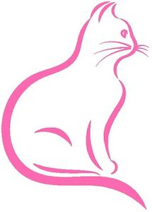 30-Custom-Modern-Pink-Cat-Personalized-Address-Labels