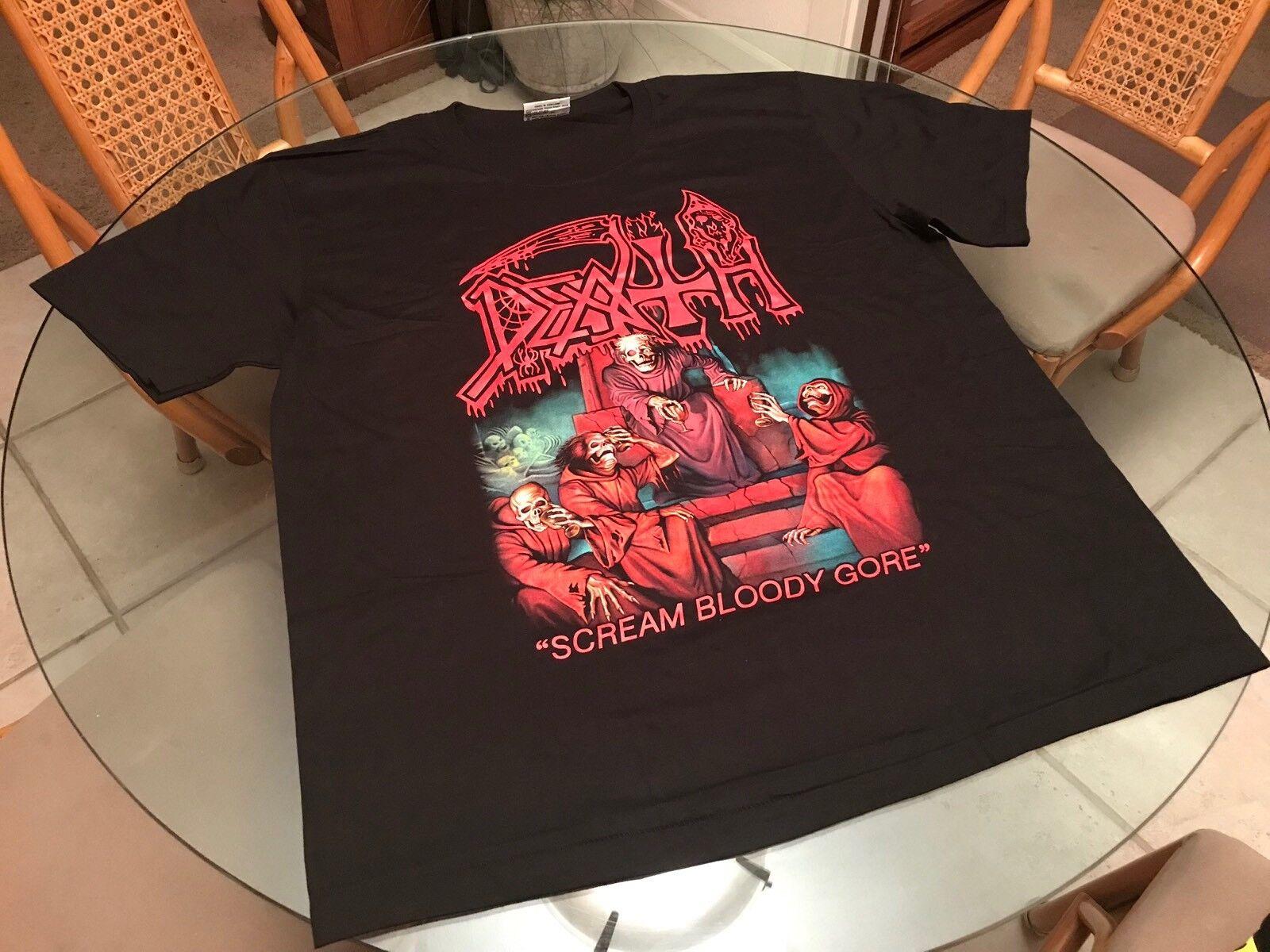 Death Sream Bloody Gore 2XL T Shirt  Also See Obituary Morbid Angle & Gwar