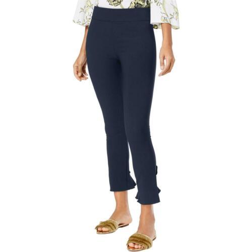 INC Womens Ruffled Mid-Rise Ankle Skinny Pants Trousers BHFO 5730