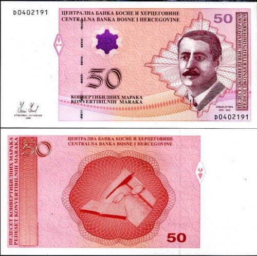 BOSNIA /& HERZEGOVINA 50 MARAKA 2008 P 77 UNC