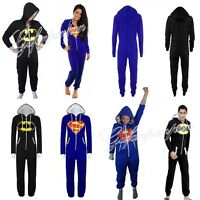 Onezee Damen Herren Jumpsuit Overall Trainingsanzug Loungewear Batman Superman
