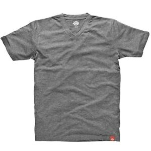 Dickies-Camiseta-T-Shirt-Paquete-Cuello-En-V-3x-Tee-Hombre-Gris-Oscuro-Mezcla