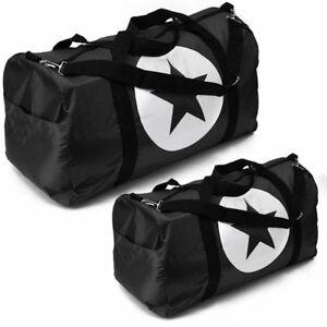Black-Duffle-Bag-Star-Sport-Gym-Carry-On-Travel-Luggage-Tote-HandBag-36-034-24-034-18-034