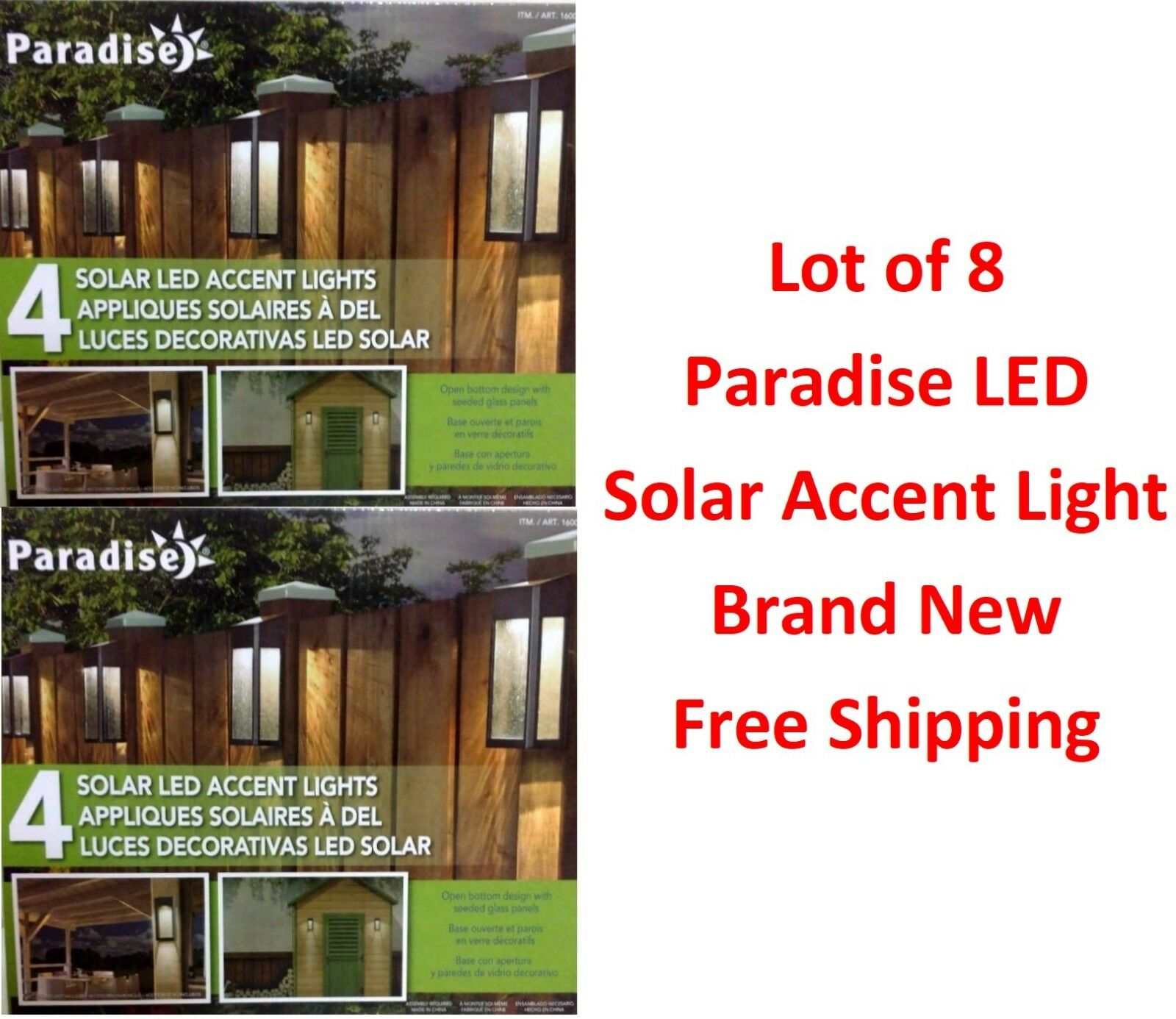 Paradise 8 paquete de energía solar LED de luces de jardín Muelle de cubierta de acento-Envío Gratuito