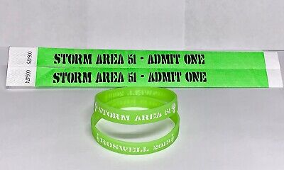 3 Wristbands Area 51 Wristbands Storm Area 51 They Can/'t Stop All of Us