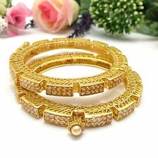 Indian Asian Polki Bangles Size:2.6 Bollywood Bridal Jewellery Party Ethnic Wear