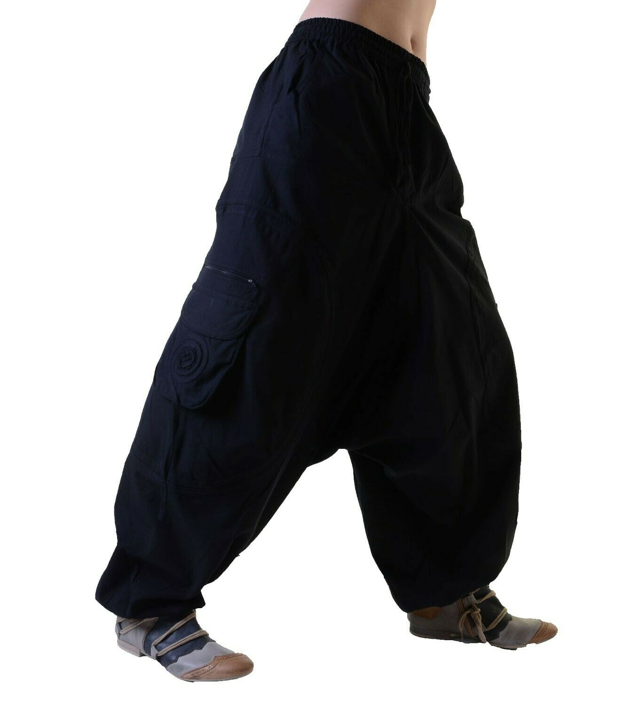 Unisex Psy Baggy Pants Hippie Hose Goa Baumwoll Tanzhose Lang