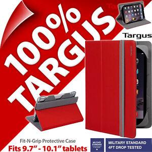 Targus-Fit-N-presa-Custodia-Tablet-Copertura-Supporto-Folio-per-9-7-034-10-1-034-iPad