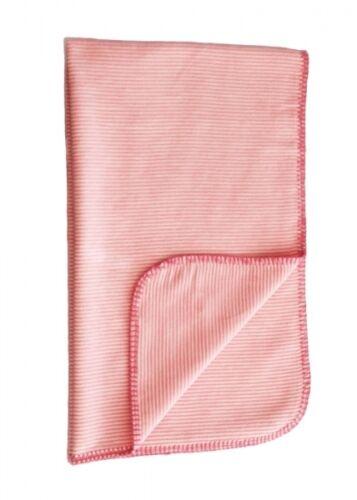 Babydecke aus 100/% Baumwolle Ibena Baby Kuscheldecke rosa 70x100 cm