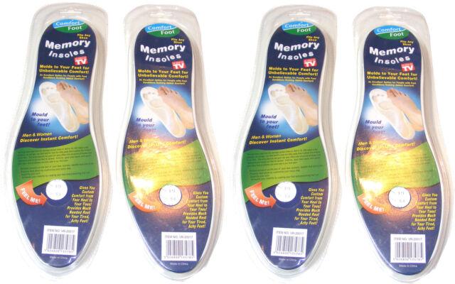 4 PAIO DI ortopediche memory foam Solette in suole per scarpe,Boots & Scarpe