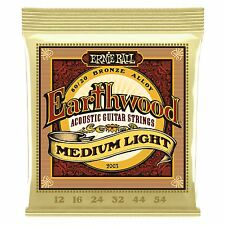 Ernie Ball Earthwood Bronze Medium Light Acoustic Guitar Strings - Gauge 12-54