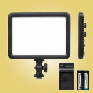 Godox-LEDP-120C-Ultra-Slim-Camera-LED-Video-Light-3300K-5600K-F750-battery