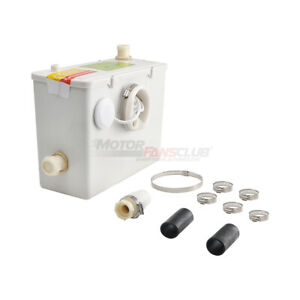 Lower Left Outlet Sanitary Macerator Waste Water Pump Auto Disposal Crush New