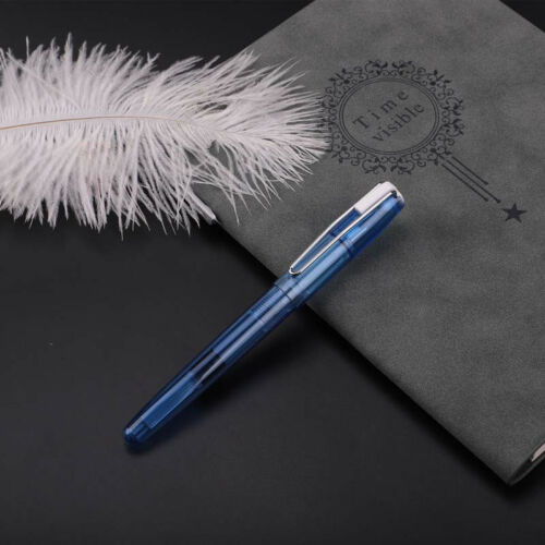 Wing Sung 3010 Transparent Fountain Pen Extra Fine Nib 0.5//0.38mm Writing Gift#w