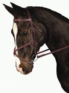 Horze Magnum Unisex Saddlery Snaffle Bridle Dark Brown All Sizes