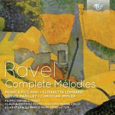 RAVEL COMPLETE MELODIES 2 CD NEU RAVEL,MAURICE
