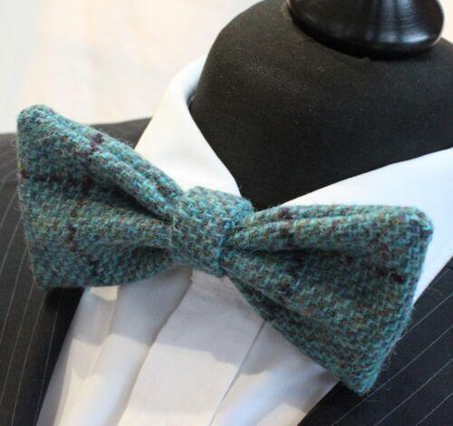 Qualité Premium Noeud Papillon Laine pré-attaché. UK Made Harris Tweed Bleu