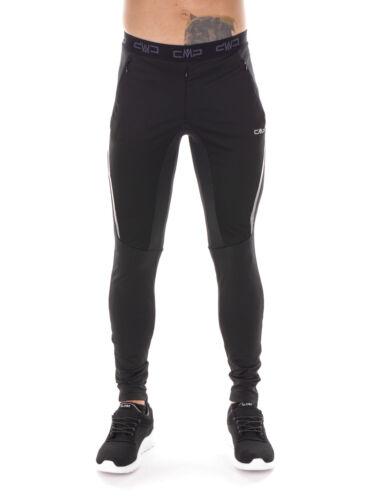 CMP Laufhose  MAN LONG PANT schwarz winddicht elastisch Unifarben