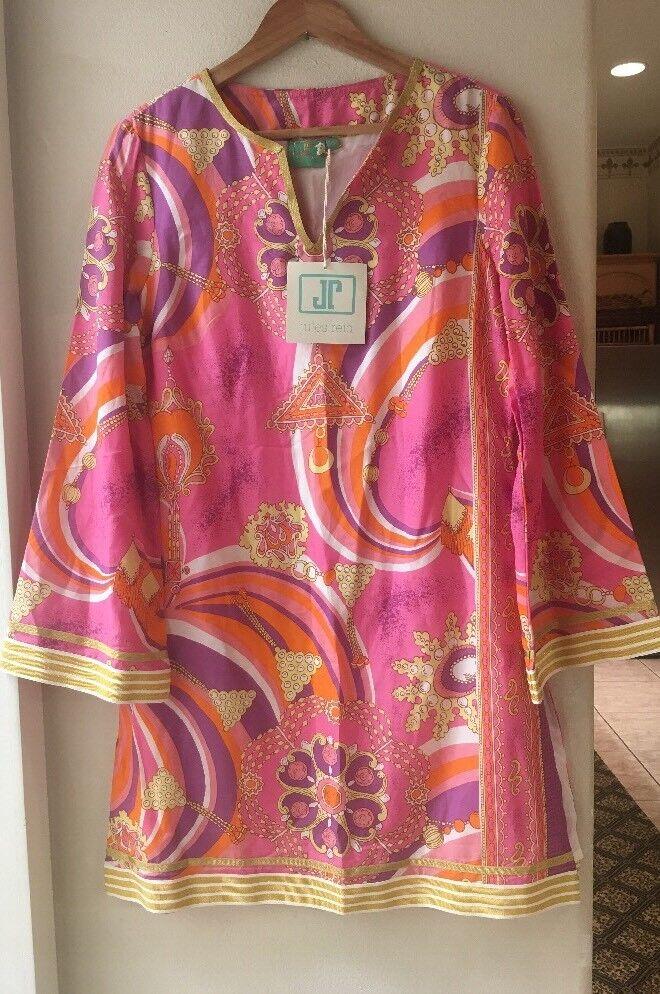 Jules Reid Womens 10 Tunic Dress The Beatrice Mini Jeweled Pink