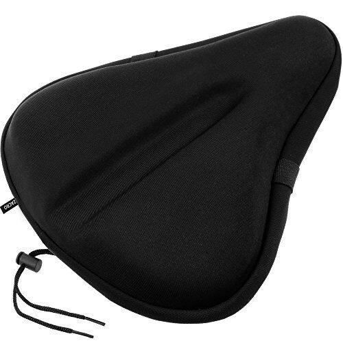 Gel Bike Seat Big Size Soft Wide Exercise Bicycle Cushion Waterproof