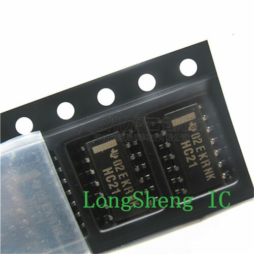 10PCS SN74HC21DR SOP-14 AND Gate IC 2-Channel 4-Input  new