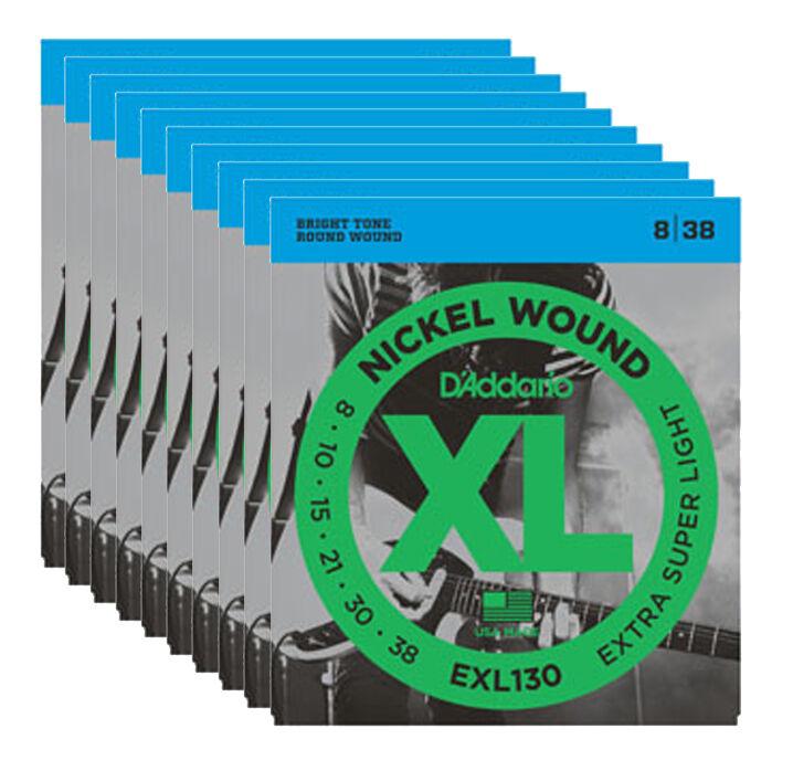D'ADDARIO EXL130 - Set da 10 Mute X-Super Light (008-038)