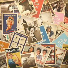 Retro 32pcs Vintage Postcards World War ? Photo Poster Cards 14cm x 10cm New