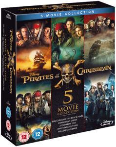 Piratas-del-Caribe-1-5-Blu-Ray-Caja-Complete-todos-5-Coleccion-de-pelicula