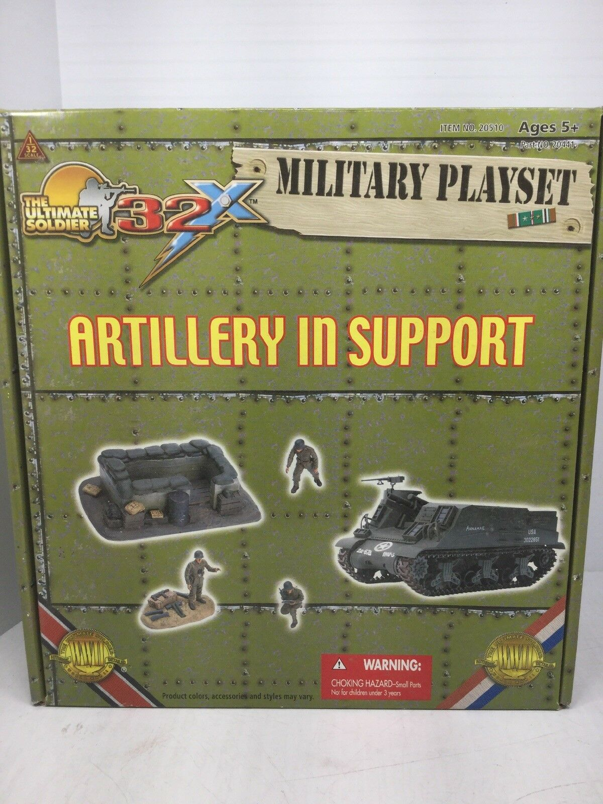 1 32 Scale Ult Soldier ARTILLERY IN SUPPORT US Playset M7 PRIEST 105MM WW2 NIB