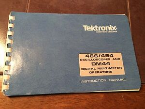 tektronix 466 464 oscilloscope dm44 meter operators manual ebay rh ebay ie tektronix 466 user manual tektronix 466 oscilloscope service manual