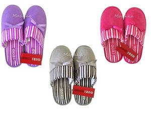 d2a80eef9fac Izod Ladies Women s Slippers Scuffs Mules New Pink Purple Gray S M L ...