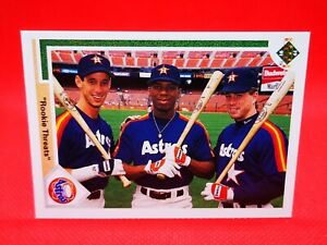 Upper Deck 1991 carte card baseball US NM+/M Houston Astros Twins #702 ROOKIE