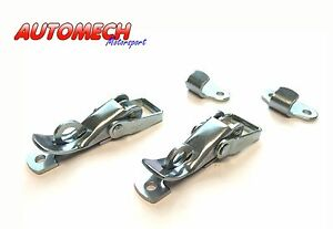 Heavy-Duty-Lockable-Over-Centre-Catch-Toggle-Clip-Plated-Finish-Pair-289
