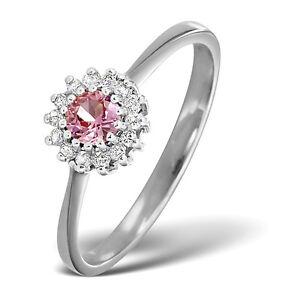 Rosa-Zafiro-y-Anillo-Con-Diamante-Oro-Blanco-Compromiso-Tamano-F-Z-Tasacion