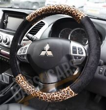 "Universal Fit Leopard Print Skin Car Steering Wheel Cover 37-39CM/15"" Anti Slip"