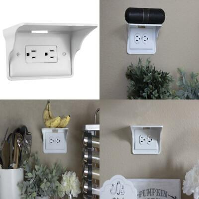 1 Pack White The Original Charging Shelf For Your Outlet Power Perch