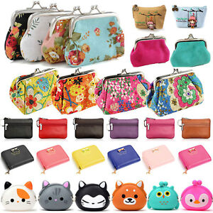83739c67049c Details about Women Girls Small Coin Purse Clutch Wallet Key Card Holder  Mini Pouch Hangbag
