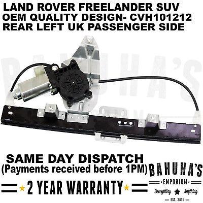 LAND ROVER FREELANDER REAR LEFT UK PASSENGER SIDE WINDOW REGULATOR OE CVH101212