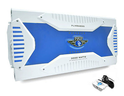 Pyle PLMRA820 8 Channel 3000W Waterproof Marine Bridgeable Mosfet Amplifier