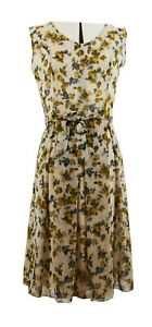 Yellow-Blue-Flowers-Sleeveless-Dress-Longer