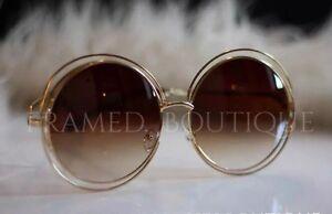 GOLD Designer überdimensional runde Sonnenbrille Boho FESTIVAL IBIZA Promi .19 DVTLd5oPaZ