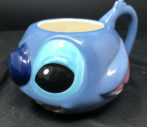 Rare-Disney-Store-Exclusive-Lilo-and-Stitch-3D-Raised-Face-Coffee-Cup-Soup-Mug