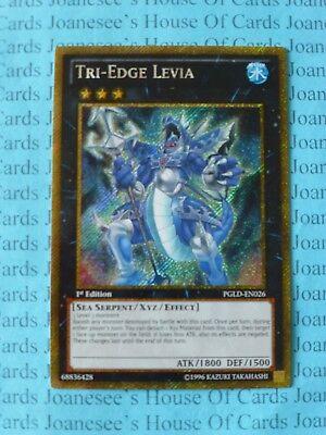 TRI-EDGE LEVIA YU-GI-OH SECRET RARE PGLD-EN026