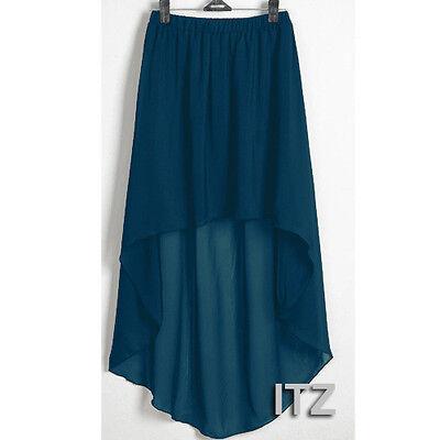 25 Colors Sexy Women Girl Chiffon Asym Dress Skirt Pleated Retro Elastic Waist